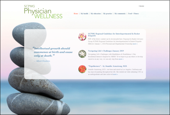 SCPMG Physician Wellness